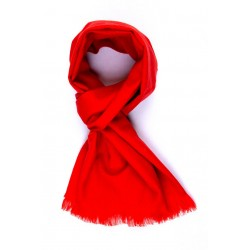SCARF ONE COLOR - CASHMERE AND WOOL