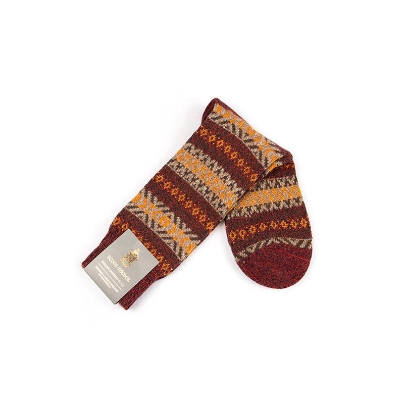 ENGLISH WOOL JACQUARD - Fancy sock Scott Nichols