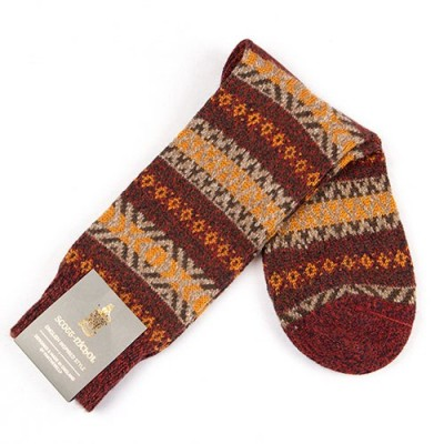 ENGLISH WOOL JACQUARD - Fancy sock Scott Nichols