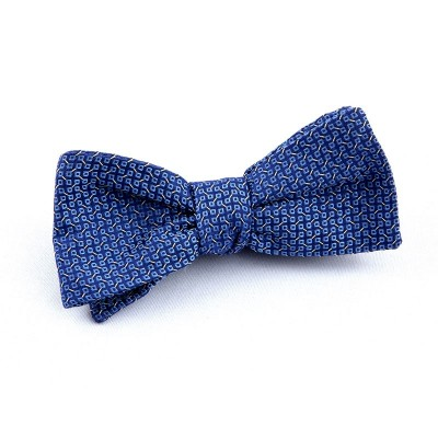 BOW TIE NAVY AND BLUE SQUARES