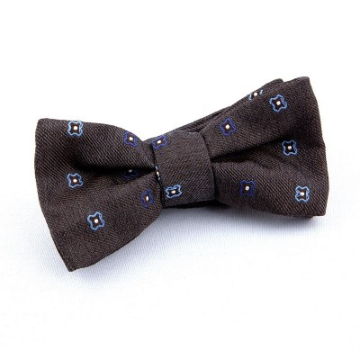BOW TIE BROWN WITH BLUE CROSS