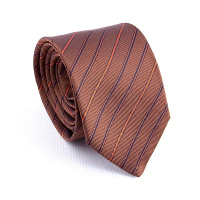 BROWN WITH DIAGONAL CORDS