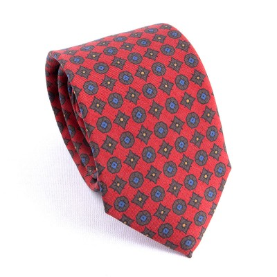 MADDER TIE RED AND BROWN
