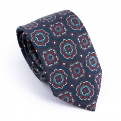 MADDER TIE NIGHT BLUE AND RED