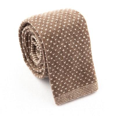 Knit tie cachemere